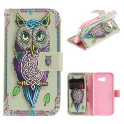 Weave Owl PU Leather Wallet Case for Samsung Galaxy A3 2017 A320