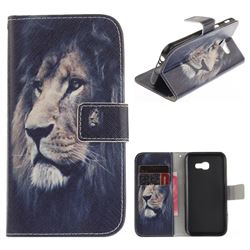 Lion Face PU Leather Wallet Case for Samsung Galaxy A3 2017 A320