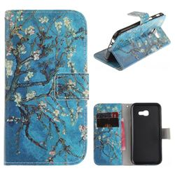 Apricot Tree PU Leather Wallet Case for Samsung Galaxy A3 2017 A320