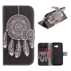 Black Wind Chimes PU Leather Wallet Case for Samsung Galaxy A3 2017 A320