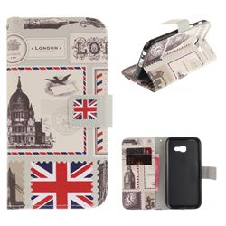 London Envelope PU Leather Wallet Case for Samsung Galaxy A3 2017 A320