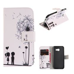 Couple Dandelion PU Leather Wallet Case for Samsung Galaxy A3 2017 A320