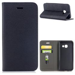 Tree Bark Pattern Automatic suction Leather Wallet Case for Samsung Galaxy A3 2017 A320 - Black