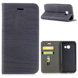 Tree Bark Pattern Automatic suction Leather Wallet Case for Samsung Galaxy A3 2017 A320 - Gray