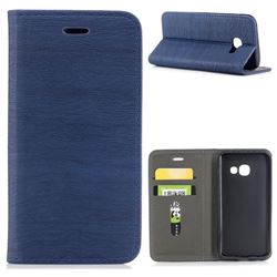 Tree Bark Pattern Automatic suction Leather Wallet Case for Samsung Galaxy A3 2017 A320 - Blue