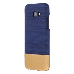 Canvas Cloth Coated Plastic Back Cover for Samsung Galaxy A3 2017 A320 - Dark Blue
