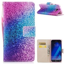 Rainbow Sand PU Leather Wallet Case for Samsung Galaxy A3 2017 A320