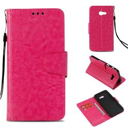 Retro Phantom Smooth PU Leather Wallet Holster Case for Samsung Galaxy A3 2017 A320 - Rose