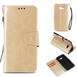 Retro Phantom Smooth PU Leather Wallet Holster Case for Samsung Galaxy A3 2017 A320 - Champagne