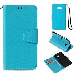 Retro Phantom Smooth PU Leather Wallet Holster Case for Samsung Galaxy A3 2017 A320 - Sky Blue