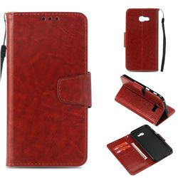 Retro Phantom Smooth PU Leather Wallet Holster Case for Samsung Galaxy A3 2017 A320 - Brown