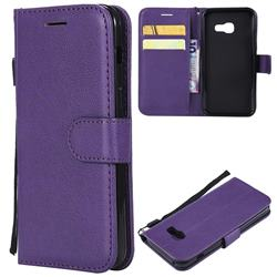 Retro Greek Classic Smooth PU Leather Wallet Phone Case for Samsung Galaxy A3 2017 A320 - Purple