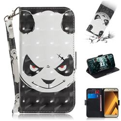 Angry Bear 3D Painted Leather Wallet Phone Case for Samsung Galaxy A3 2017 A320