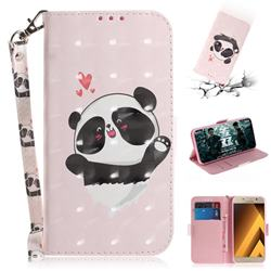 Heart Cat 3D Painted Leather Wallet Phone Case for Samsung Galaxy A3 2017 A320