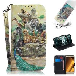 Beast Zoo 3D Painted Leather Wallet Phone Case for Samsung Galaxy A3 2017 A320