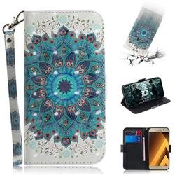 Peacock Mandala 3D Painted Leather Wallet Phone Case for Samsung Galaxy A3 2017 A320