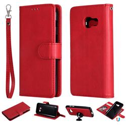 Retro Greek Detachable Magnetic PU Leather Wallet Phone Case for Samsung Galaxy A3 2017 A320 - Red