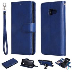 Retro Greek Detachable Magnetic PU Leather Wallet Phone Case for Samsung Galaxy A3 2017 A320 - Blue