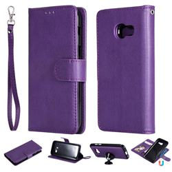 Retro Greek Detachable Magnetic PU Leather Wallet Phone Case for Samsung Galaxy A3 2017 A320 - Purple