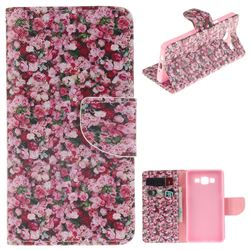 Intensive Floral PU Leather Wallet Case for Samsung Galaxy A5 2015 A500