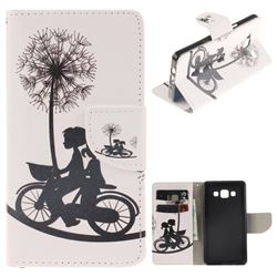 Cycling Dandelion PU Leather Wallet Case for Samsung Galaxy A5 2015 A500