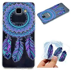 Blue Feather Campanula Super Clear Soft TPU Back Cover for Samsung Galaxy A5 2016 A510