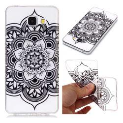 Black Mandala Flower Super Clear Soft TPU Back Cover for Samsung Galaxy A5 2016 A510