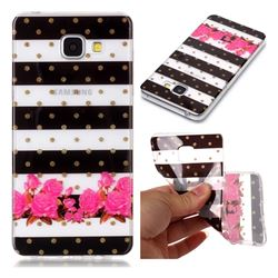 Striped Flowers Super Clear Soft TPU Back Cover for Samsung Galaxy A5 2016 A510