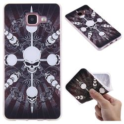 Compass Skulls 3D Relief Matte Soft TPU Back Cover for Samsung Galaxy A5 2016 A510