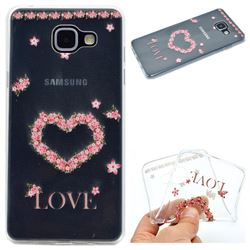 Heart Garland Super Clear Soft TPU Back Cover for Samsung Galaxy A5 2016 A510