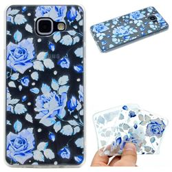Ice Rose Super Clear Soft TPU Back Cover for Samsung Galaxy A5 2016 A510