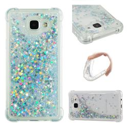 Dynamic Liquid Glitter Sand Quicksand Star TPU Case for Samsung Galaxy A5 2016 A510 - Silver