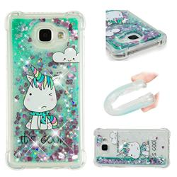 Tiny Unicorn Dynamic Liquid Glitter Sand Quicksand Star TPU Case for Samsung Galaxy A5 2016 A510