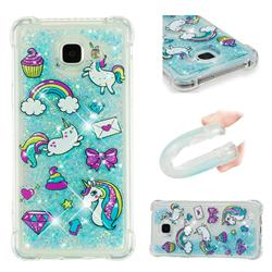 Fashion Unicorn Dynamic Liquid Glitter Sand Quicksand Star TPU Case for Samsung Galaxy A5 2016 A510