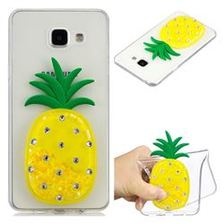 Yellow Pineapple Liquid Quicksand Soft 3D Cartoon Case for Samsung Galaxy A5 2016 A510