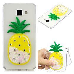 White Pineapple Liquid Quicksand Soft 3D Cartoon Case for Samsung Galaxy A5 2016 A510