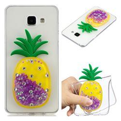 Purple Pineapple Liquid Quicksand Soft 3D Cartoon Case for Samsung Galaxy A5 2016 A510