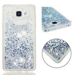 Dynamic Liquid Glitter Quicksand Sequins TPU Phone Case for Samsung Galaxy A5 2016 A510 - Silver