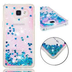 Dynamic Liquid Glitter Quicksand Sequins TPU Phone Case for Samsung Galaxy A5 2016 A510 - Blue