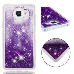Dynamic Liquid Glitter Quicksand Sequins TPU Phone Case for Samsung Galaxy A5 2016 A510 - Purple
