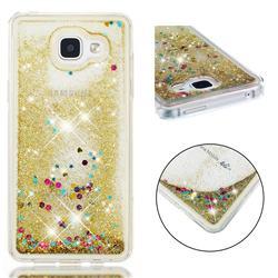 Dynamic Liquid Glitter Quicksand Sequins TPU Phone Case for Samsung Galaxy A5 2016 A510 - Golden
