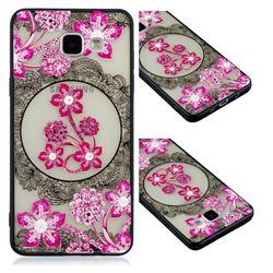 Daffodil Lace Diamond Flower Soft TPU Back Cover for Samsung Galaxy A5 2016 A510