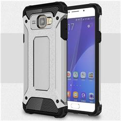 King Kong Armor Premium Shockproof Dual Layer Rugged Hard Cover for Samsung Galaxy A5 2016 A510 - Technology Silver