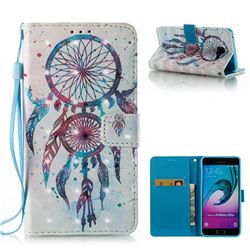 ColorDrops Wind Chimes 3D Painted Leather Wallet Case for Samsung Galaxy A5 2016 A510