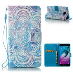 Mandala 3D Painted Leather Wallet Case for Samsung Galaxy A5 2016 A510