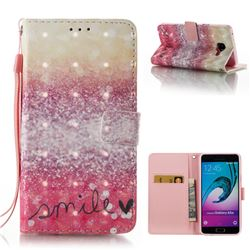 Desert Smile 3D Painted Leather Wallet Case for Samsung Galaxy A5 2016 A510