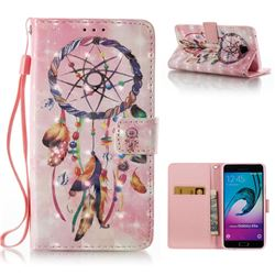 Bead Wind Chimes 3D Painted Leather Wallet Case for Samsung Galaxy A5 2016 A510