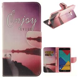 Seaside Scenery PU Leather Wallet Case for Samsung Galaxy A5 2016 A510