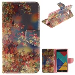 Colored Flowers PU Leather Wallet Case for Samsung Galaxy A5 2016 A510