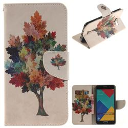 Colored Tree PU Leather Wallet Case for Samsung Galaxy A5 2016 A510